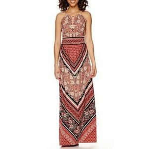 London Style Collection Peach Maxi Dress